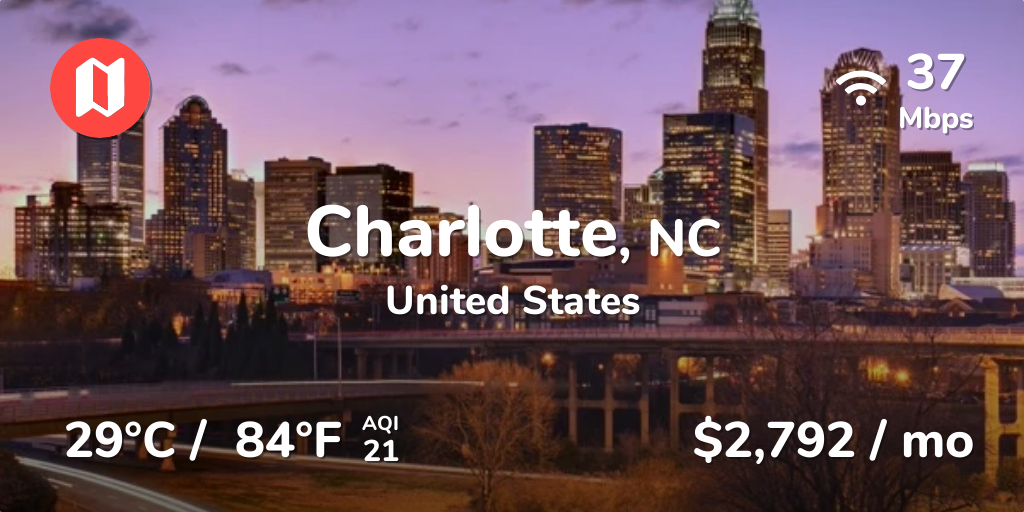 Charlotte North Carolina For Digital Nomads