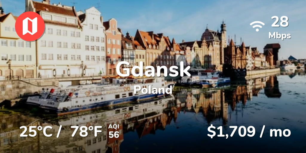Cost of Living in Gdansk  Prices Updated Sep 2019