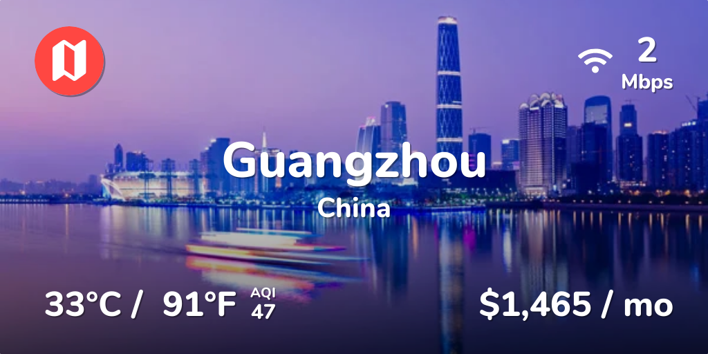 Cost of Living in Guangzhou  Prices Updated Aug 2019
