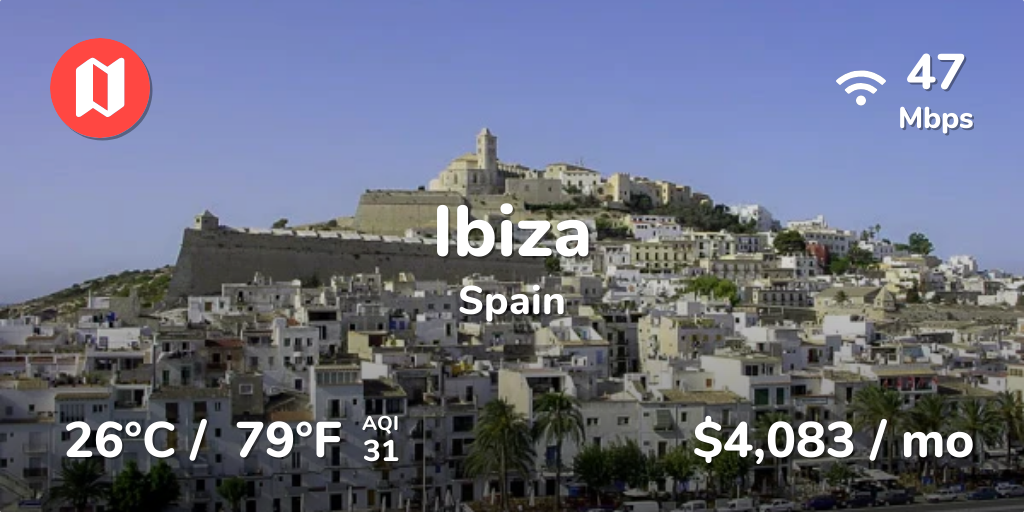 Cost of Living in Ibiza in Aug 2019