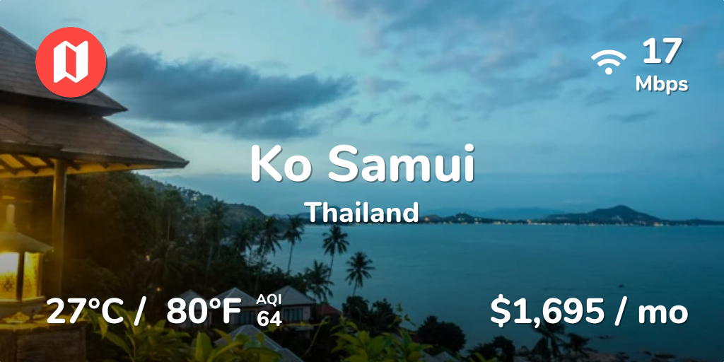 Cost of Living in Ko Samui  Prices Updated Sep 2019