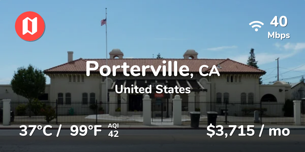 Cost of Living in Porterville in Sep 2019