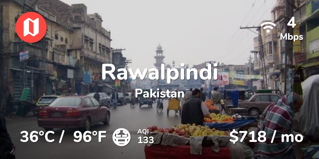 Cost of Living in Rawalpindi  Prices in Aug 2018