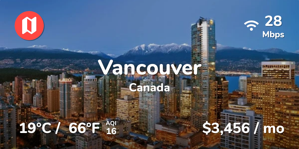 Cost of Living in Vancouver in Jul 2019