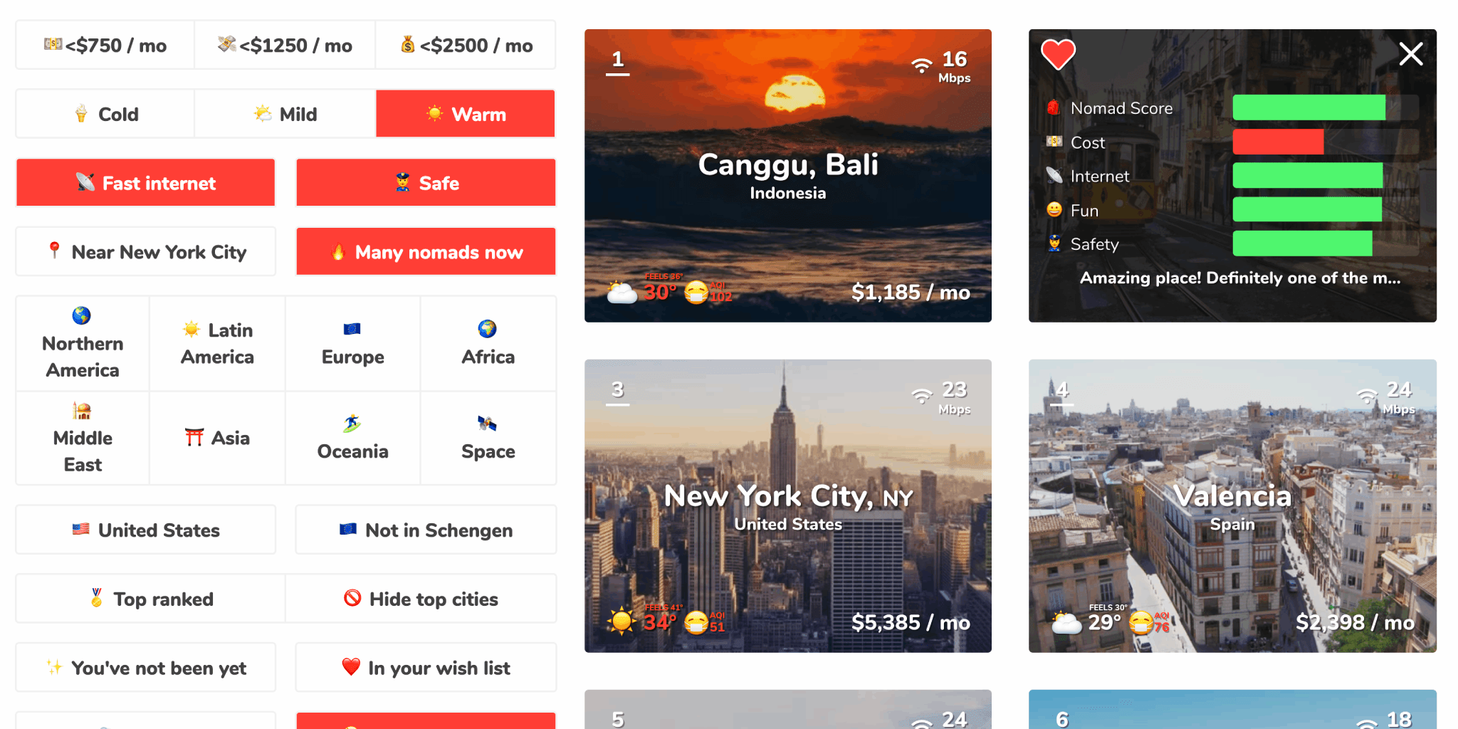 Nomad List - Best Cities to Live and Work Remotely for Digital Nomads