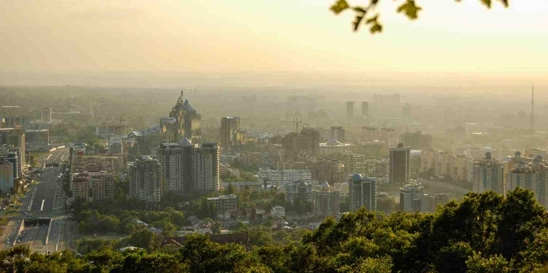 Background image of Almaty