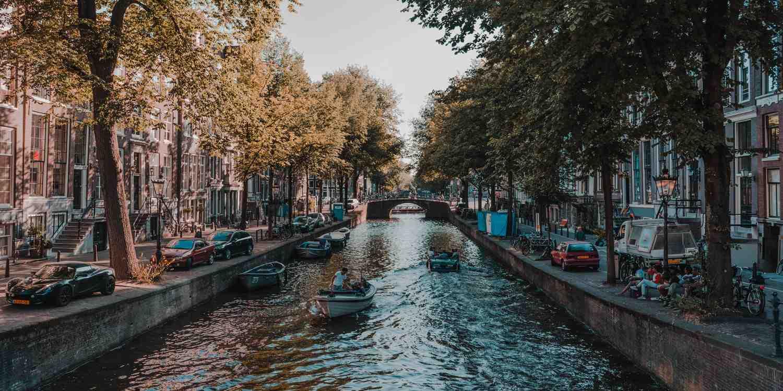 Background image of Amsterdam