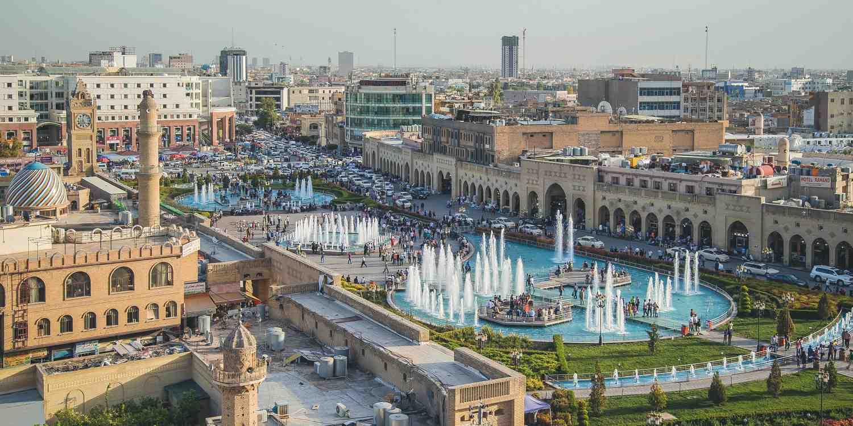 Background image of Baghdad