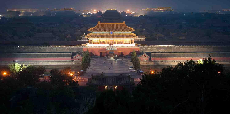 Background image of Beijing