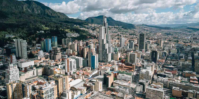 Background image of Bogota