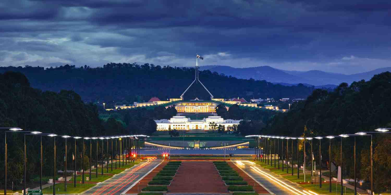 Background image of Canberra