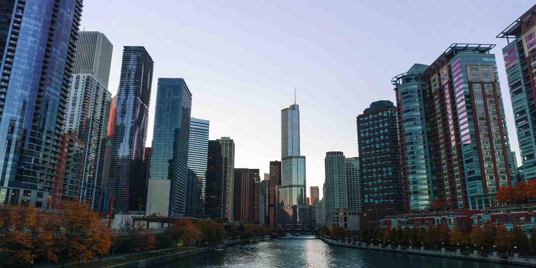 Background image of Chicago