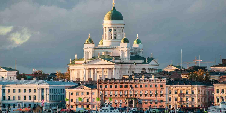 Background image of Helsinki