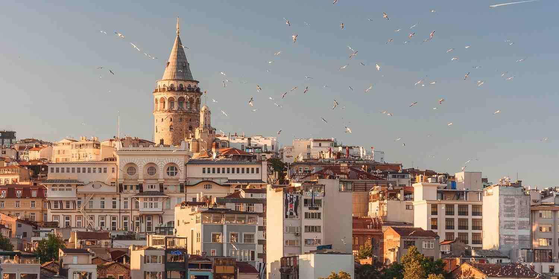 Background image of Istanbul
