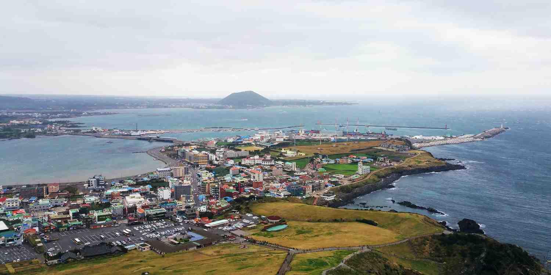 Background image of Jeju Island