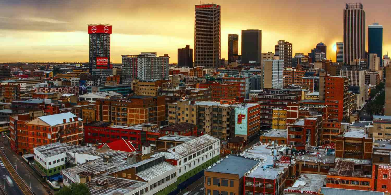 Background image of Johannesburg