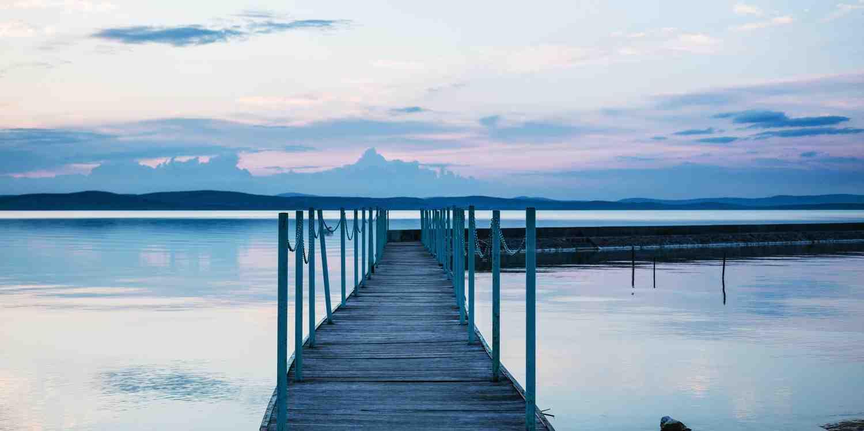Background image of Lake Balaton
