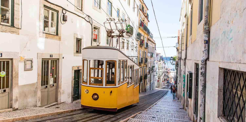 Background image of Lisbon