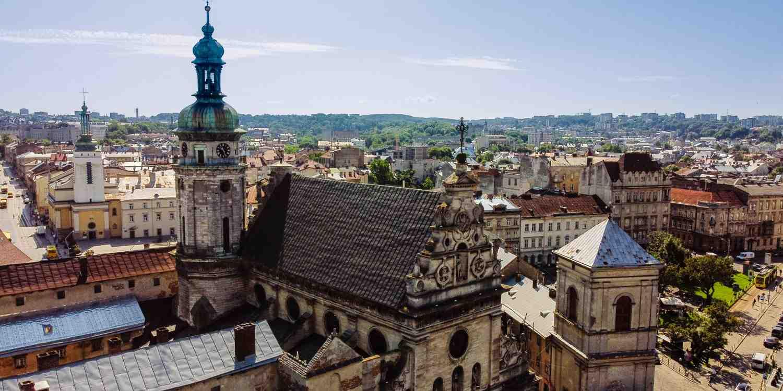 Background image of Lviv