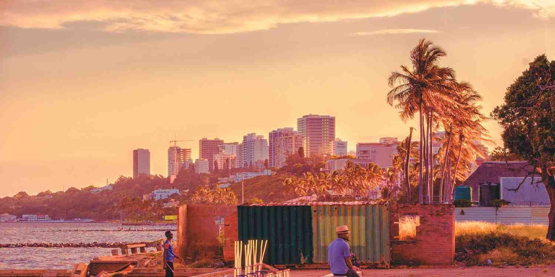 Background image of Maputo