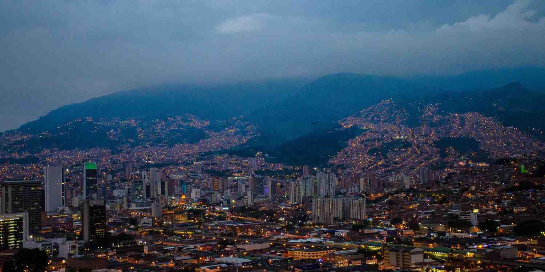 Background image of Medellín