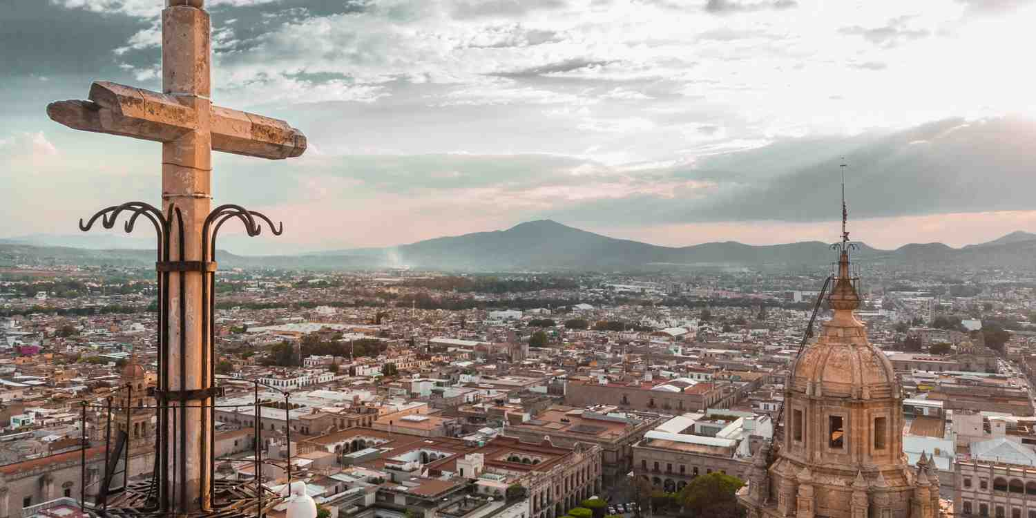 Background image of Mexico City