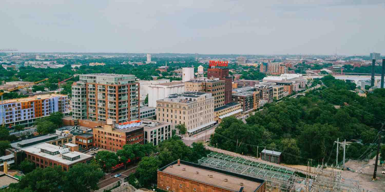 Background image of Minneapolis