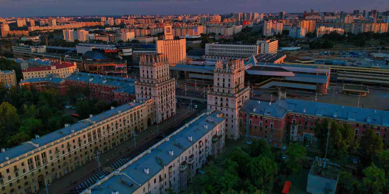 Background image of Minsk