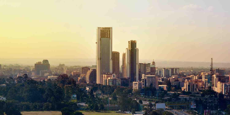 Background image of Nairobi