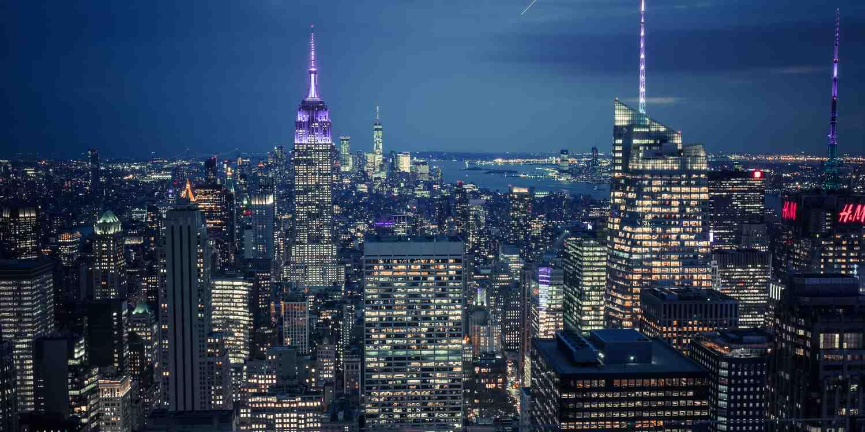 Background image of New York City