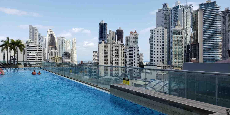 Background image of Panama City