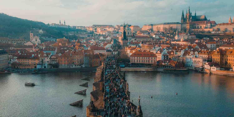 Background image of Prague