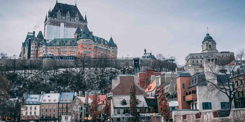 Background image of Quebec City