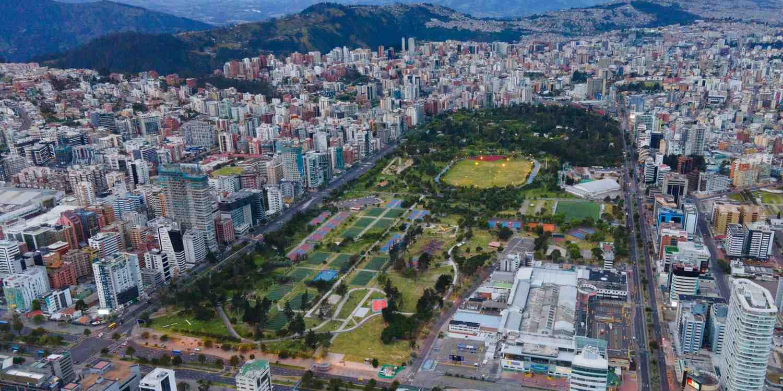 Background image of Quito