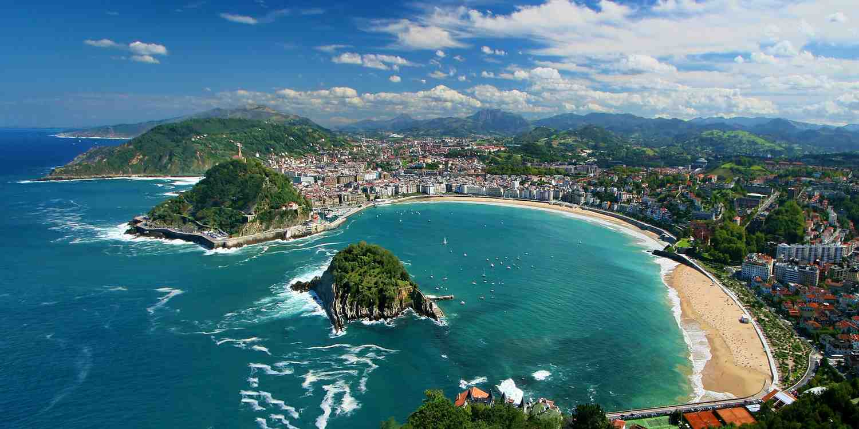 Background image of San Sebastian