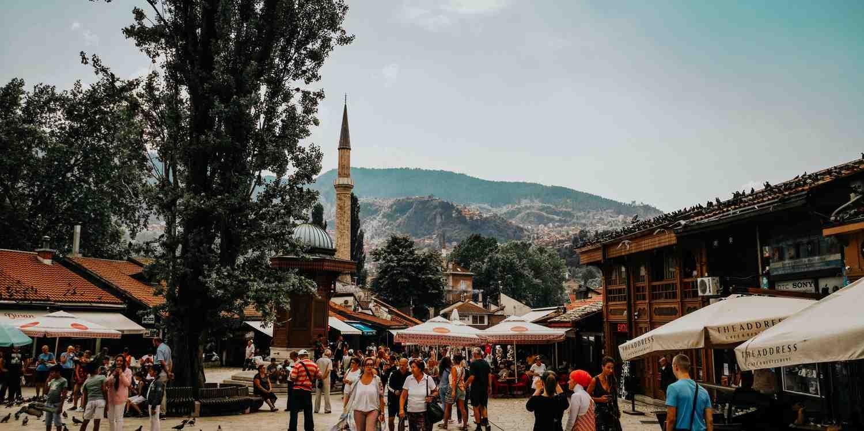 Background image of Sarajevo