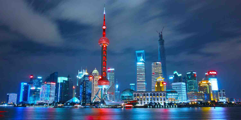 Background image of Shanghai