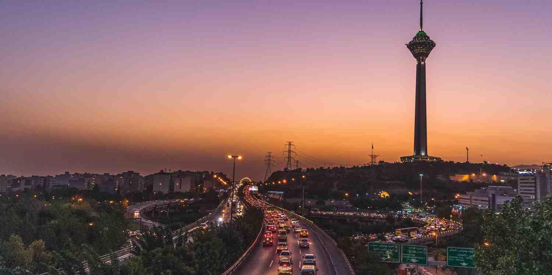 Background image of Tehran