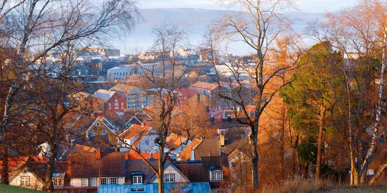 Background image of Trondheim