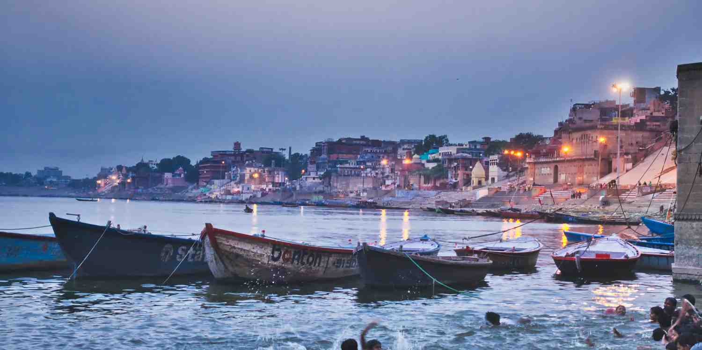 Background image of Varanasi