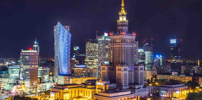 Background image of Warsaw