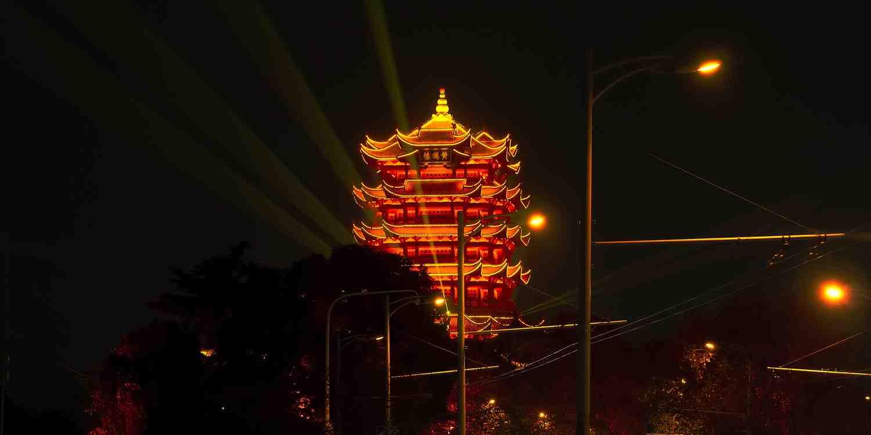 Background image of Wuhan