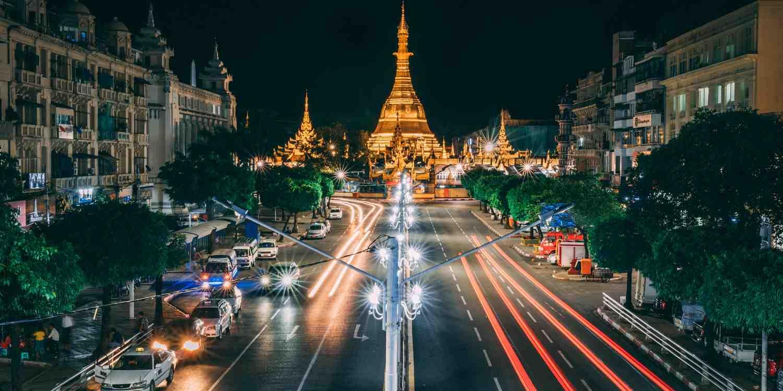 Background image of Yangon