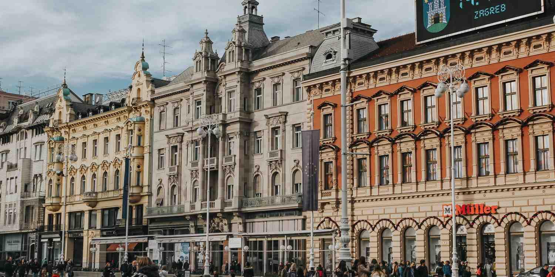 Background image of Zagreb