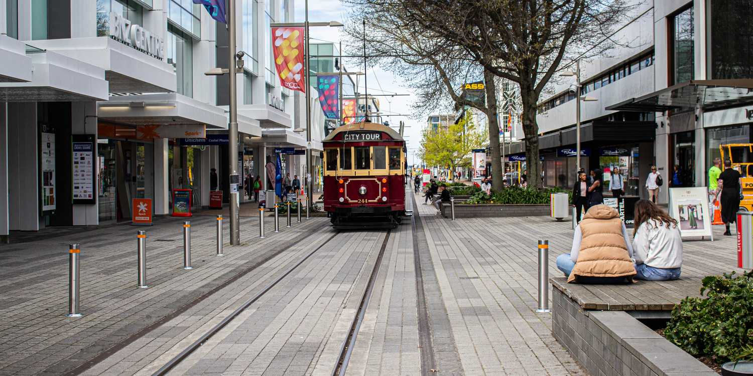 Background image of Christchurch