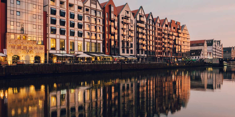 Background image of Gdansk