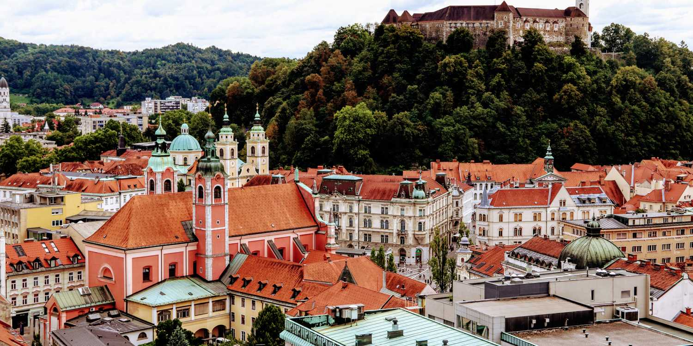 Background image of Ljubljana