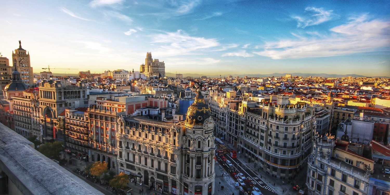 Background image of Madrid