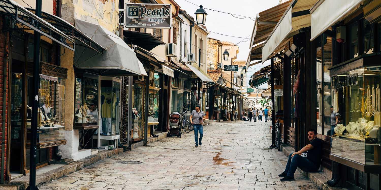 Background image of Skopje