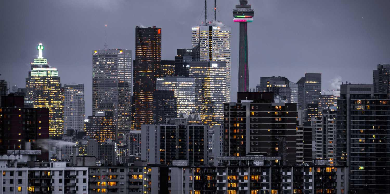 Background image of Toronto